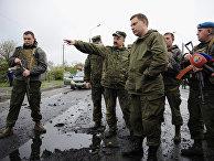 Глава ДНР Александр Захарченко в районе КПП «Еленовка» в Донецкой области