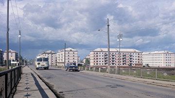 Вид на жилые кварталы в городе Биробиджане