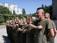 Тренировка бойцов батальона «Азов»