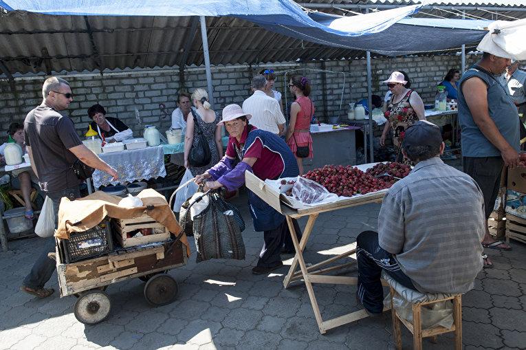 Рынок в Северодонецке Луганской области