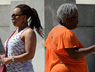 Женщины на одной из улиц в Вашингтоне
