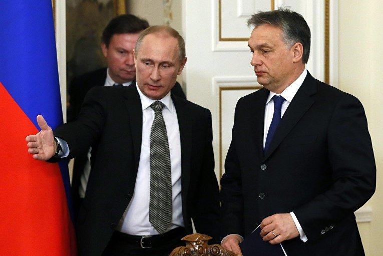 Владимир Путин и премьер-министр Венгрии Виктор Орбан
