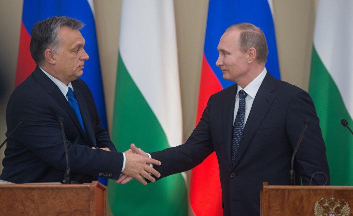 Президент России Владимир Путин и премьер-министр Венгрии Виктор Орбан
