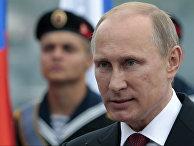 Владимир Путин на военном параде в честь Дня Победы в Севастополе