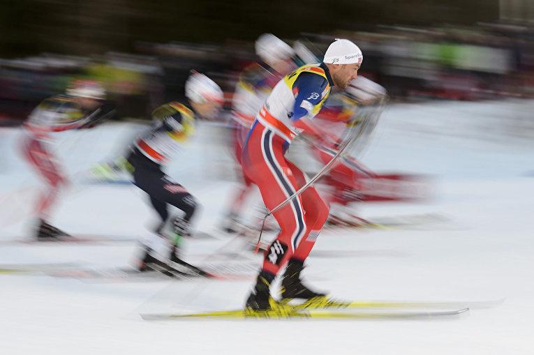 Норвежский лыжник Петтера Нортуга