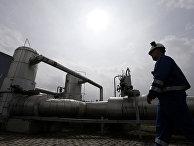 Сотрудник газового хранилища в Чехии