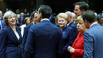 Лидеры стран Европейского Союза в Брюсселе