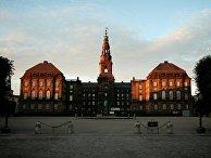 Дворец Кристиансборг в Копенгагене