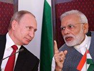 Президент РФ Владимир Путин и премьер-министр Республики Индии Нарендра Моди