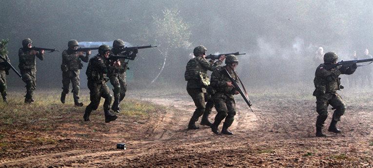 Военные учения литовских, польских и украинских войск «Кленовая Арка-2012»