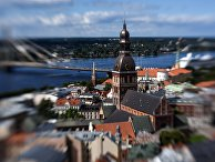 Колокольня Домского кафедрального собора в Риге, Латвия