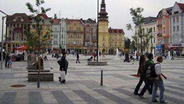 Город Острава в Чехии. 2007 год.