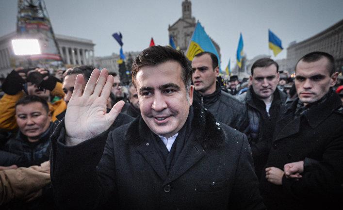 Экс-президент Грузии Михаил Саакашвили на Украине в составе группы европейских парламентариев