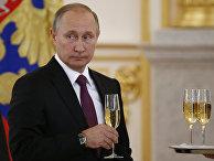 Президент РФ Владимир Путин на церемонии вручения верительных грамот