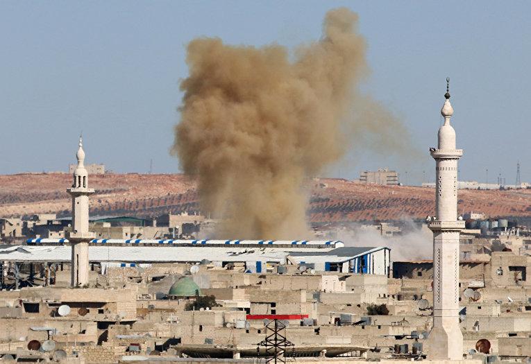 Дым в окрестностях Алеппо