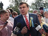 Михаил Саакашвили на праздновании Дня независимости Украины в Одессе