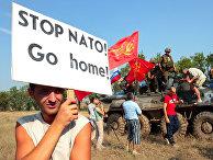 Акция протеста против проведения военных маневров «Си Бриз-2008» в Крыму