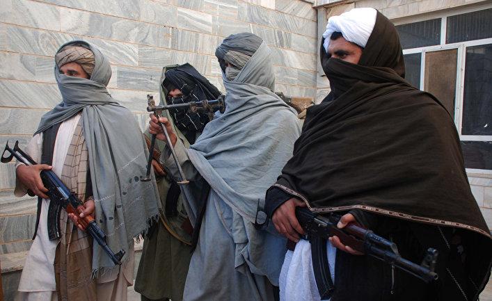 Боевики движения «Талибан» в Афганистане