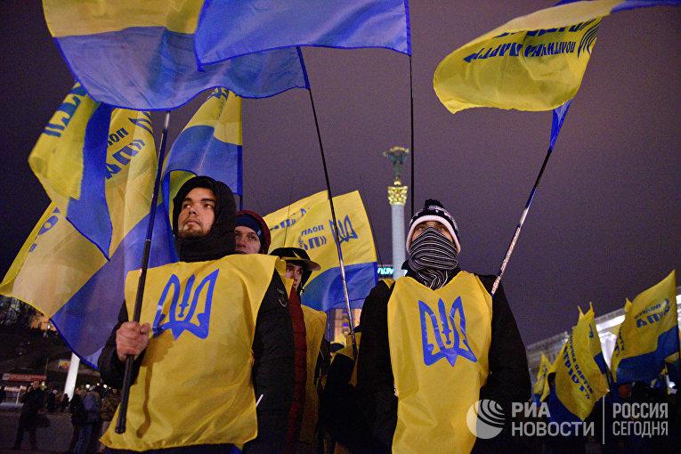 Годовщина начала событий на киевском Майдане