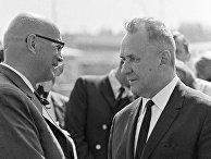 Председатель Совета Министров CCCР Косыгин и Президент Финляндии Кекконен
