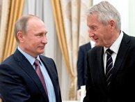 Президент РФ Владимир Путин и генеральный секретарь Совета Европы Турбьерн Ягланд