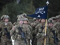 Солдаты армии США примают участие в военных учения НАТО «Железный меч 2016»
