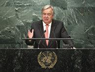 Антониу Гутерреш на заседании Генассамблеи ООН. 13 октября 2016