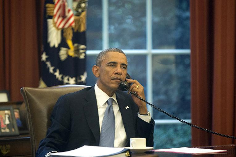 Президент США Барак Обама в Белом доме в Вашингтоне