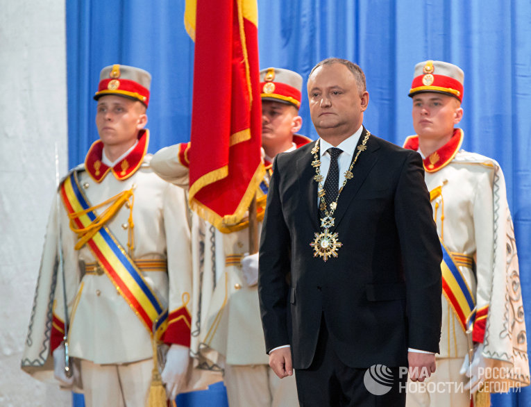 Инаугурация избранного президента Молдавии Игоря Додона