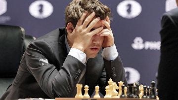 Норвежский шахматист Карлсен Магнус. 21 ноября 2016 года