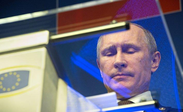 Владимир Путин на совместной пресс-конференции по итогам встречи на высшем уровне Россия – Европейский союз в Брюсселе