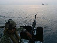 На борту катера Riverine Command Boat американских ВМС
