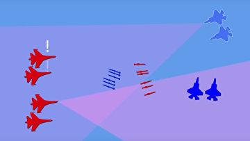 Воздушный бой: F-35 vs Су-35