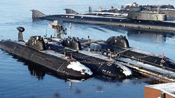 Северный флот. База атомных подводных лодок