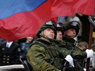 Военнослужащие России во время Парада Победителей в Севастополе