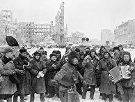 В освобожденном Сталинграде
