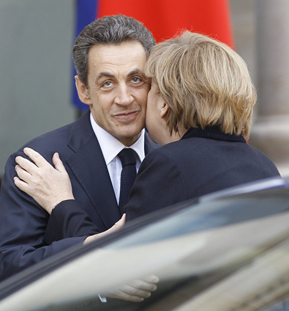 Президент Франции Николя Саркози и канцлер Германии Ангела Меркель, архивное фото