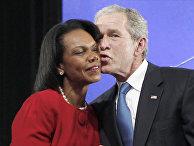 Президент США Джордж Буш и госсекретарь США Кондолиза Райс, архивое фото