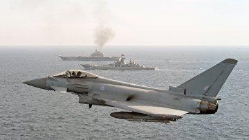 """Британские ВМС и ВВС сопровождают российские корабли """"Адмирал Кузнецов"""" и """"Петр Великий"""""""