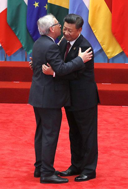 Президент Европейской Комиссии Жан-Клод Юнкер и председатель КНР Си Цзиньпин