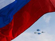 Пилотажная группы «Соколы России» на авиашоу