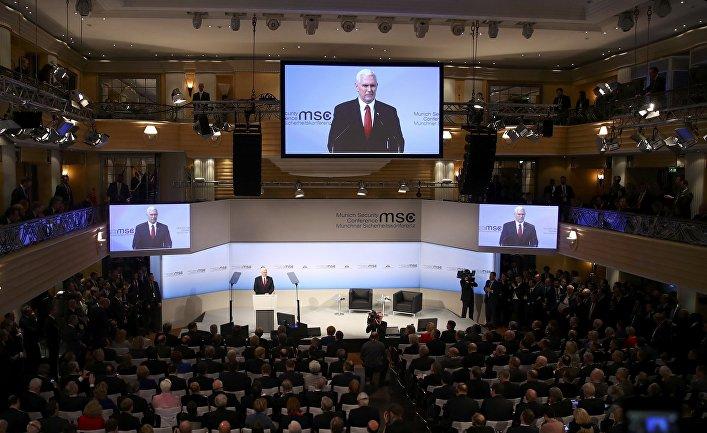 Вице-президент США Майк Пенс на мюнхенской конференции по безопасности