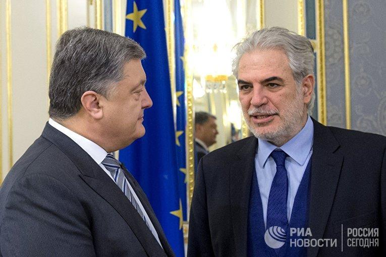 Встреча президента Украины Петра Порошенко и комиссара ЕС Христоса Стилианидесом