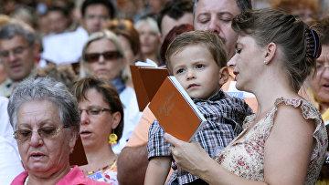 Свидетели Иеговы во время международного конгресса в Вене