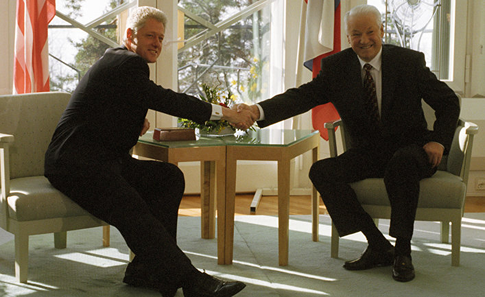 Ельцин и Клинтон в Хельсинки
