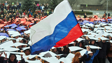 Флешмоб «Горжусь Россией!», посвященный третьей годовщине воссоединения Крыма с Россией