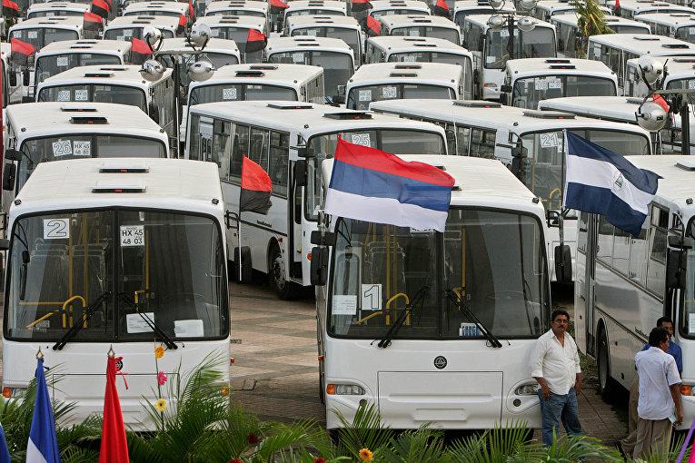 овые автобусы, подаренные правительством России Никарагуа