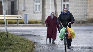Пожилые жинщины в Литве