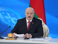 Президент Белоруссии Александр Лукашенко на пресс-конференции в Минске. 3 февраля 2017