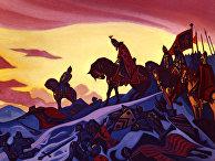 Репродукция картины Н.К. Рериха «Александр Невский»